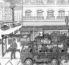 illustration de présentation de la soirée avec PARIS KINSHASA EXPRESS