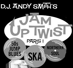illustration de présentation de la soirée avec JAM UP TWIST PARIS : DJ ANDY SMITH + DAVID BAKER