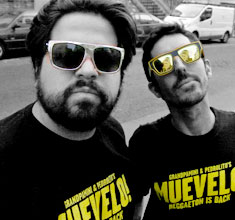 illustration de présentation de la soirée avec MUEVELO : <br />DJ GRANDPAMINI &#038; PEDROLITO