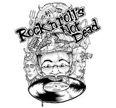 illustration de présentation de la soirée avec ROCK'N'ROLL'S NOT DEAD