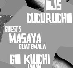 illustration de présentation de la soirée avec GROOVALIZACION FEVER #1 :  CUCURUCHO +  MASAYA + GO KIUCHI