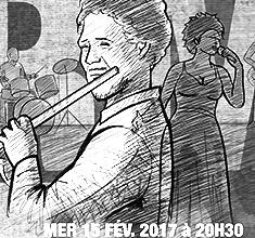 illustration de présentation de la soirée avec HILAIRE PENDA WARM UP SHOW invite MAGIC MALIK