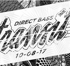 illustration de présentation de la soirée avec DIRECT BASS TRANSIT : LE COUZ + DINDE + DK + DIGICLA + K-MI +TRIMAPS