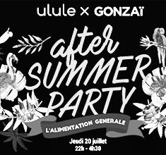 illustration de présentation de la soirée avec ULULE X GONZAÏ AFTER SUMMER PARTY