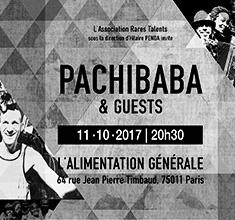 illustration de présentation de la soirée avec RARES TALENTS WARM UP SHOW invite PACHIBABA