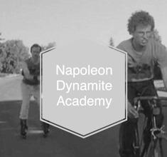 illustration de présentation de la soirée avec NAPOLEON DYNAMITE ACADEMY :  BOY PUSSY + FLVN +VAN CAMPO