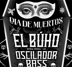illustration de présentation de la soirée avec CABARET GHETTO  DIA DE MUERTOS :  DJ EL BUHO + OSCILADOR BASS + JULIO INTI