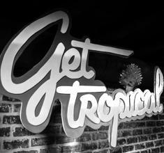 illustration de présentation de la soirée avec Get Tropical X : SIMONE BASSLINE + TRIMAPS + KMI + BILIMBAO + MONJULES