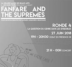 illustration de présentation de la soirée avec Fanfares and the Supremes