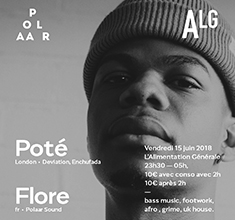 illustration de présentation de la soirée avec POLAAR 49 w/ Poté (Enchufada) & Flore