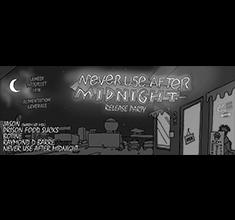 illustration de présentation de la soirée avec Johnkôôl Records : Never Use After Midnight release party