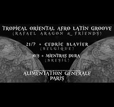 illustration de présentation de la soirée avec Tropical Oriental Afro Latin Groove – Rafael Aragon & Friends