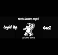 illustration de présentation de la soirée avec Funkalicious Night w/ OozZ & Light Up