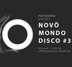 illustration de présentation de la soirée avec Novö Mondo Disco #3