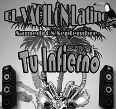 illustration de présentation de la soirée avec El Vacilón Latino et Tu Infierno et Dj Nahuen & Ortega Pachamama