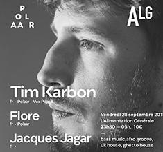 illustration de présentation de la soirée avec Polaar w/ Tim Karbon, Flore, Jacques Jaguar