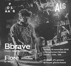 illustration de présentation de la soirée avec POLAAR 53 w/ Bbrave (Akwaaba Music) and Flore