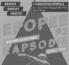 illustration de présentation de la soirée avec Epopée #2 – Rapsodie