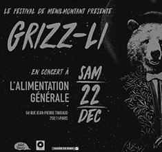 illustration de présentation de la soirée avec Grizz-Li – Festival de Ménilmontant