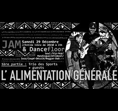 illustration de présentation de la soirée avec Jam & Dancefloor w/ Trio des Sports