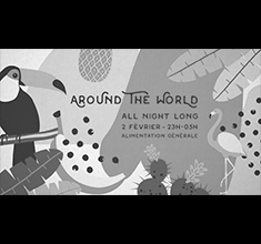 illustration de présentation de la soirée avec Around The World – all night long