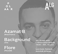 illustration de présentation de la soirée avec Polaar 57 avec Azamat B (Rinse France) & Background