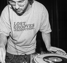 illustration de présentation de la soirée avec Aurelio (Lost Grooves) et Switch Groove Exp