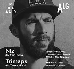 illustration de présentation de la soirée avec POLAAR 58 w/ Niz (Bal Trop – Reims) et Trimaps