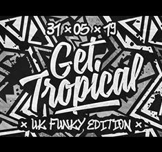 illustration de présentation de la soirée avec Get Tropical – Uk Funky Edition w/ Marcus Nasty