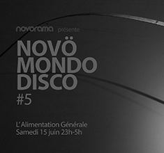 illustration de présentation de la soirée avec Novö Mondo Disco #5