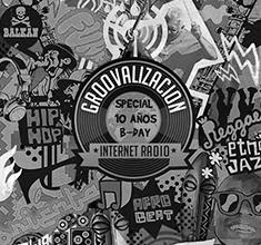 illustration de présentation de la soirée avec Groovalizacion Party spécial 10 años B-Day !