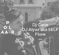 illustration de présentation de la soirée avec Polaar 60 w/ Dj Carie, Dj Alyaz aka Self & Flore