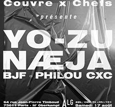 illustration de présentation de la soirée avec Couvre x Chefs : YO-ZU, Næja, BJF, Philou CxC