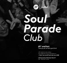 illustration de présentation de la soirée avec Soul Parade Club : the last one !