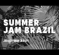 illustration de présentation de la soirée avec Summer jam Brazil