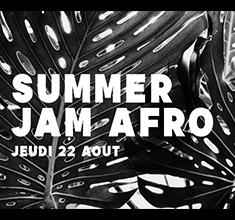 illustration de présentation de la soirée avec Summer jam afro