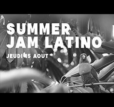 illustration de présentation de la soirée avec Summer jam latino