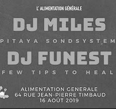 illustration de présentation de la soirée avec Pitaya Soundsytem w/ Few tips to heal