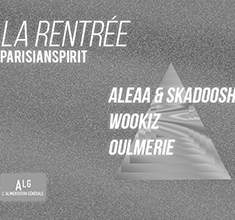 illustration de présentation de la soirée avec La Rentrée : Wookiz – Oulmerie – Aleaa & Skadoosh
