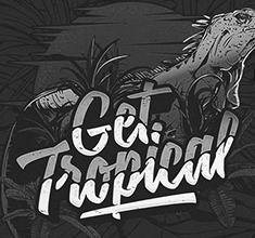 illustration de présentation de la soirée avec Get Tropical w/ Murder He Wrote