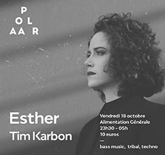 illustration de présentation de la soirée avec POLAAR 62 Esther x Tim Karbon