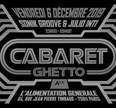 illustration de présentation de la soirée avec Cabaret ghetto djs Sonikgroove – Julio Inti