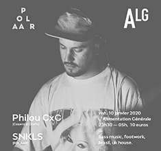 illustration de présentation de la soirée avec Polaar w/ Philou CxC & SNKLS
