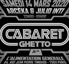 illustration de présentation de la soirée avec Cabaret ghetto w/ Arcéka & Julio inti