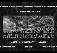 illustration de présentation de la soirée avec Apero Electronique : Techno Thérapie