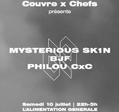 illustration de présentation de la soirée avec Couvre x Chefs : Mysterious Sk1n (La Créole), BJF, Philou CxC